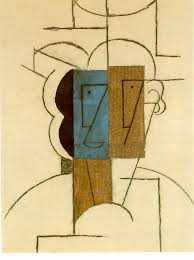 """Head of a Man"" (1912) , Pablo Picasso"